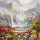 "Hand painted oil painting on canvas""Cute bird""60x120CM(24""x48"")Unframed-21"