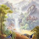 "Hand painted oil painting on canvas""Cute bird""60x120CM(24""x48"")Unframed-22"