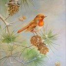 "Simple modern Hand painted oil painting on canvas""Cute bird""50x60CM(19.7""x23.6"")Unframed-31"