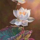 "Chinese style Hand painted oil painting on canvas""lotus""60x120CM(23.6""x47.2"")Unframed-62"