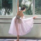 "European style Body Art Hand painted oil painting on canvas""Ballet girl""50x60CM(20""x24"")Unframed-02"