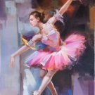 "European style Body Art Hand painted oil painting on canvas""Ballet girl""60x90CM(24""x36"")Unframed-05"
