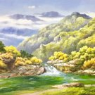 """American style Hand painted oil painting on canvas""""Creek""""70x180CM(27.6""""x70.9"""")Unframed-183"""