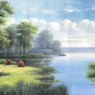 """Nordic style Hand painted oil painting on canvas""""forest""""70x180CM(27.6""""x70.9"""")Unframed-50"""