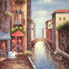 """Mediterranean style Hand painted oil painting on canvas""""Sea view Villa""""90x120CM(36""""x48"""")Unframed-71"""