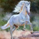 """Hand painted oil painting on canvas""""Akhal-teke horses""""90x120CM(35.4""""x47.2"""")Unframed-36"""
