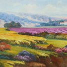 "Hand painted oil painting on canvas""Image of the countryside""70x180CM(27.6""x70.9"")Unframed-79"