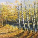 "Nordic style Hand painted oil painting on canvas""forest""60x120CM(23.6""x47.2"")Unframed-54"