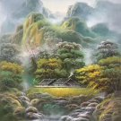 """Hand painted oil painting on canvas""""Image of the countryside""""50x60CM(19.7""""x23.6"""")Unframed-100"""
