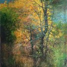 """Hand painted oil painting on canvas""""forest""""80x160CM(33""""x63"""")Unframed-56"""