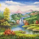"Hand painted oil painting on canvas""Creek""60x120CM(23.6""x47.2"")Unframed-275"
