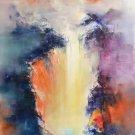 "Simple modern Hand painted oil painting on canvas""dusk""70x150CM(30""x60"")Unframed-46"