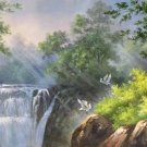 """Hand painted oil painting on canvas""""Creek""""60x120CM(23.6""""x47.2"""")Unframed-343"""