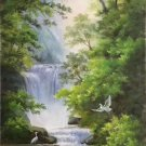 """Hand painted oil painting on canvas""""Creek""""60x120CM(23.6""""x47.2"""")Unframed-345"""