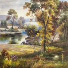 """Hand painted oil painting on canvas""""Creek""""60x90CM(23.6""""x35.4"""")Unframed-346"""