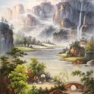 """Hand painted oil painting on canvas""""Creek""""60x90CM(23.6""""x35.4"""")Unframed-349"""