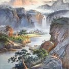 """Hand painted oil painting on canvas""""Creek""""60x90CM(23.6""""x35.4"""")Unframed-350"""