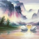 """Hand painted oil painting on canvas""""Creek""""60x90CM(23.6""""x35.4"""")Unframed-351"""