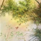 """Simple modern Hand painted oil painting on canvas""""bamboo""""75x150CM(30""""x60"""")Unframed-49"""