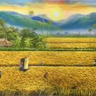 """Hand painted oil painting on canvas""""Image of the countryside""""60x120CM(23.6""""x47.2"""")Unframed-136"""