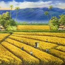 """Hand painted oil painting on canvas""""Image of the countryside""""60x120CM(23.6""""x47.2"""")Unframed-137"""