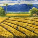 """Hand painted oil painting on canvas""""Image of the countryside""""60x120CM(23.6""""x47.2"""")Unframed-138"""