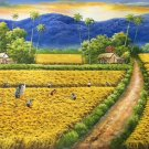 """Hand painted oil painting on canvas""""Image of the countryside""""60x120CM(23.6""""x47.2"""")Unframed-139"""
