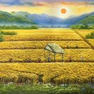 """Hand painted oil painting on canvas""""Image of the countryside""""60x120CM(23.6""""x47.2"""")Unframed-140"""
