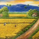 """Hand painted oil painting on canvas""""Image of the countryside""""60x120CM(23.6""""x47.2"""")Unframed-141"""
