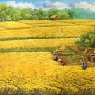 """Hand painted oil painting on canvas""""Image of the countryside""""60x120CM(23.6""""x47.2"""")Unframed-142"""