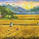 """Hand painted oil painting on canvas""""Image of the countryside""""60x120CM(23.6""""x47.2"""")Unframed-143"""