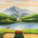 """American style Hand painted oil painting on canvas""""Creek""""70x180CM(27.6""""x70.9"""")Unframed-364"""
