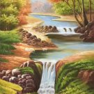 """Hand painted oil painting on canvas""""Creek""""60x120CM(23.6""""x47.2"""")Unframed-365"""
