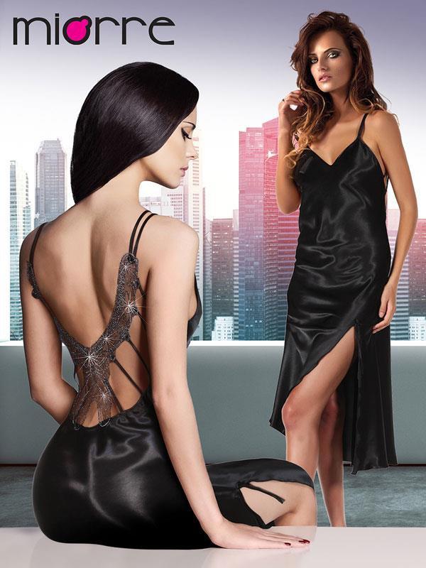 Woman Satin Gown Nightwear Sleepwear Gown Sexy Dress Robe Lingerie Nightgown