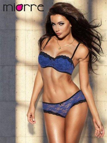 Gorgeous Floral Lace Strapless Molded Halter Demi Push Up Bra Set Bikinis Briefs