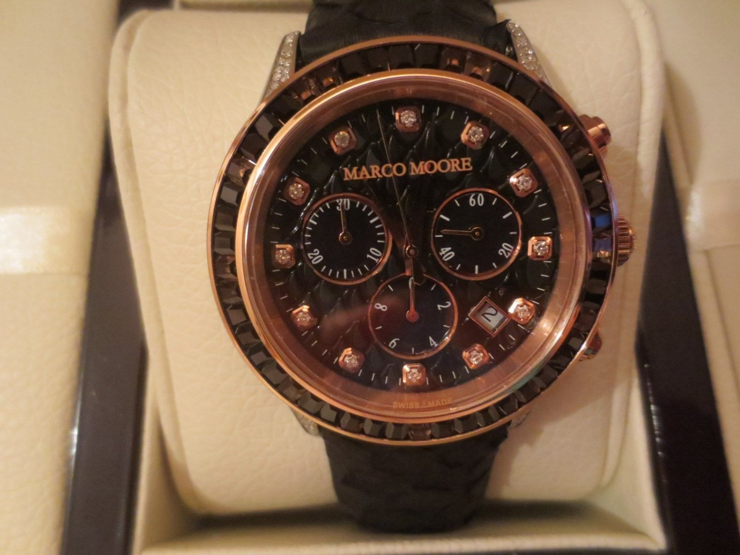 Marco Moore Swiss Made Chronograph, 41mm,Price $1,995.00.