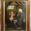 19th Century Continental School Antique Victorian Era Grandfather and child.