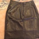 MARC BUCHANAN PELLE PELLE LEATHER BLACK COLOR LADIES SKIRT SIZE 9/10.