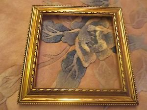 Vintage Carved Wooden Gold Decorative Picture Frame 9 x 9.