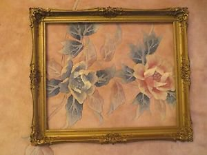"""Vintage Ornate Gilt Gesso Wood Picture Frame Fits 22x18 Art Overall 26x22"""""""