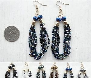 Assorted Multi Seedbead Colored Fashion Earrings