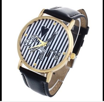 Paris Eiffel Tower Analog Quartz Wrist Watch