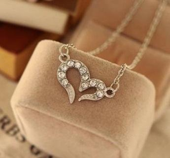 Love Heart Diamanté Necklace