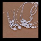 Costume jewelry - Silver balls - 3 tier necklace