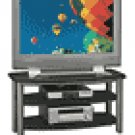 """Bush - Verona TV Stand for Flat-Panel TVs Up to 42"""" - Black/Silver"""