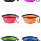 Food bowl for pet dog cat silca gel with buckle