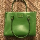Kate spade Wellesley Quinn Emerald Green Handbag Tote Purse $385 retail