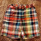 GIRLS POLO RALPH LAUREN COTTON PLAID SHORTS   SZ 3/3T