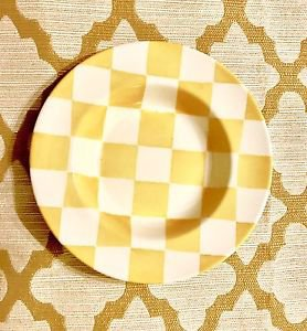 "Royal Stafford Yellow Chequers Salad/soup Plate Bowl 9-3/4"" Checker England"