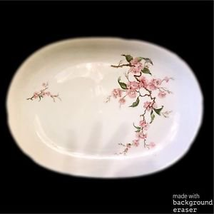 "Heinrich Bavaria Germany BLOSSOMTIME 13"" Serving Platter Plate White Pink Roses"